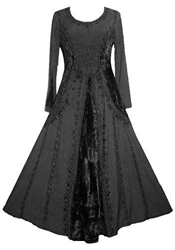 204 D (Black Renaissance Dress)