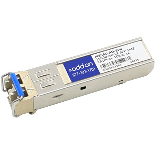 Add-On Computer Products AddOn 5-Pack of HP J4859C Compatible TAA Compliant 1000Base-LX SFP Transceiver (SMF, 1310nm, 10km, LC) by Add-On Computer Products
