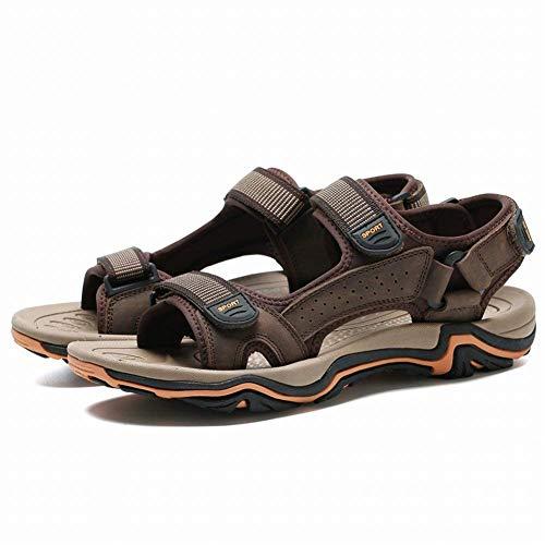 44 Hombre Zapatos Hombres Antideslizantes Transpirables Sandalias Y Tamaño Cómodos Para Primera Grandes De Cuero Capa color Fuweiencore Dunkelbrown Negro q70TnPtx