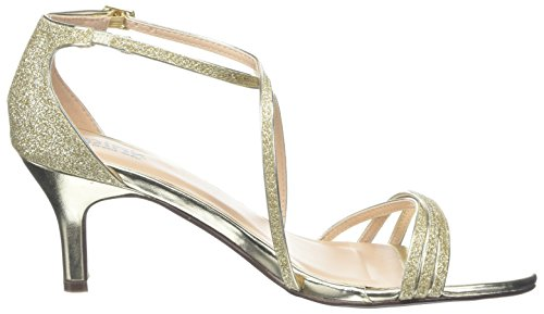 by Sandals Paradox Isla Women's Gold Strap Pink Gold London of Ankle SaRdqd
