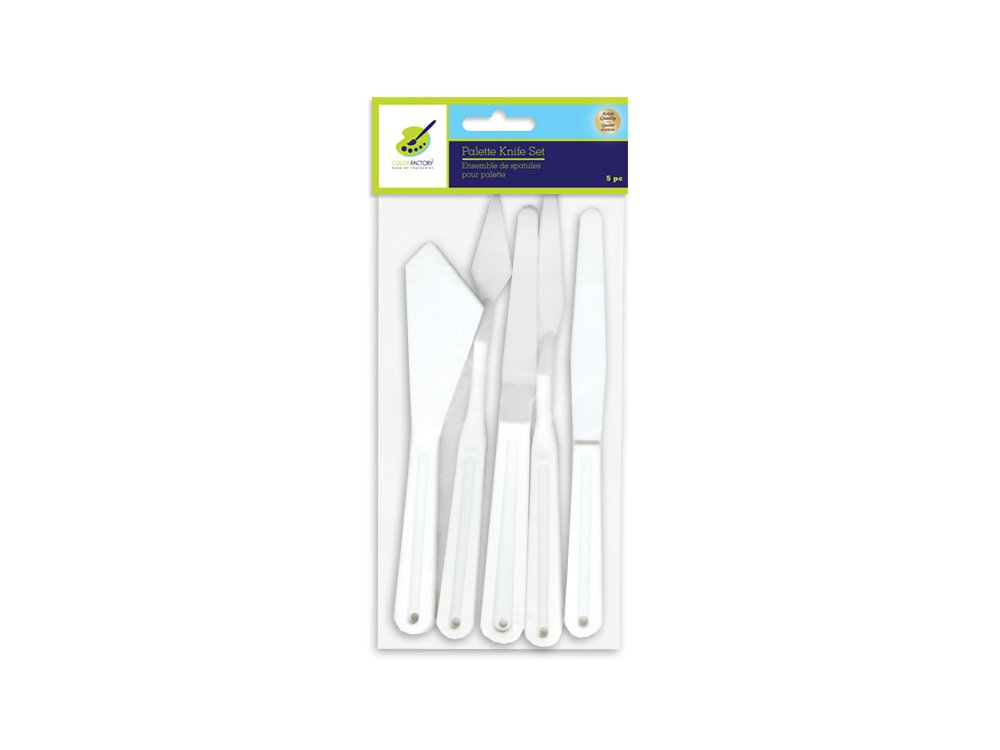 5 Piece Plastic Palette Knife Set