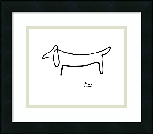 Framed Art Print 'Le Chien (The Dog)' by Pablo Picasso - Pablo Picasso Lithograph