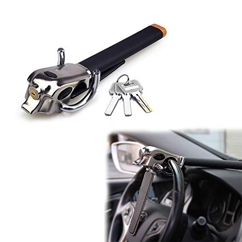 AUTLY Auto Anti Theft Locking Car Steering Wheel Lock with Keys Security T-Lock Universal