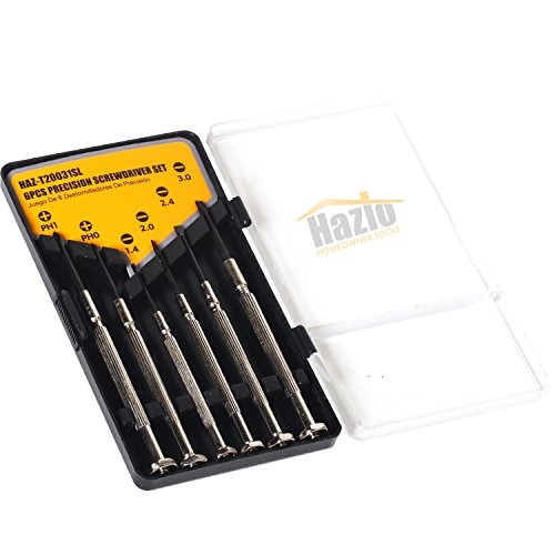 Precision Screwdriver 6 Pcs Set  Mini Repair Tool Kit Complete w/ 6 Flathead & Philips Heads  Ideal For Jewelry, PC, Electronics, Eyeglasses, Watches, iPhone, Console Repairs & Hobby/DIY Projects