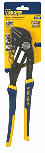 IRWIN Tools VISE-GRIP GrooveLock Pliers, Straight Jaw, 12-inch (4935098) ()