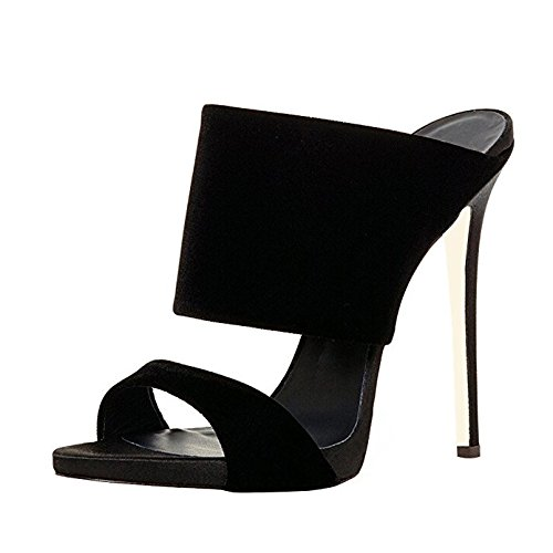 FSJ Women Versatile Open Toe Mule Shoes Feminine Slingback Stiletto Sandals Size 4-15 US