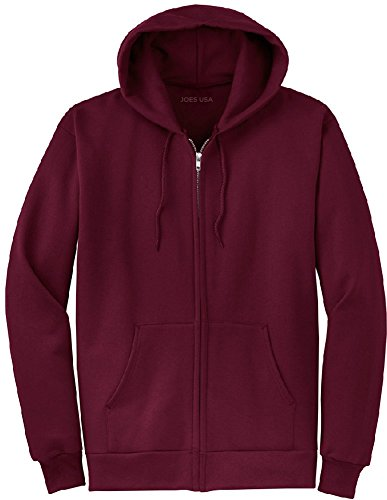 Sweatshirt Hoody Maroon (Joe's USA tm Full Zipper Hoodies - Hooded Sweatshirts Size S, Maroon)