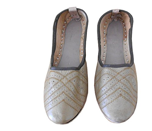 Kalra Creations Men's Traditional Leather Indian Loafer Shoes Tan Color 02Odb34B