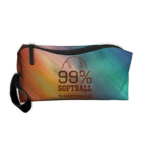 99% Softball 1% Everything Else Portable Zipper Storage Bag Portable Travel Storage Bags Kits Medicine And Makeup Bags by JYDPROV (Image #1)