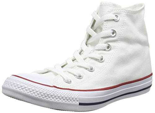 - Converse Unisex Chuck Taylor All Star Core Hi Classic Sneaker, Optical White, Men's 5.5, Women's 7.5 Medium