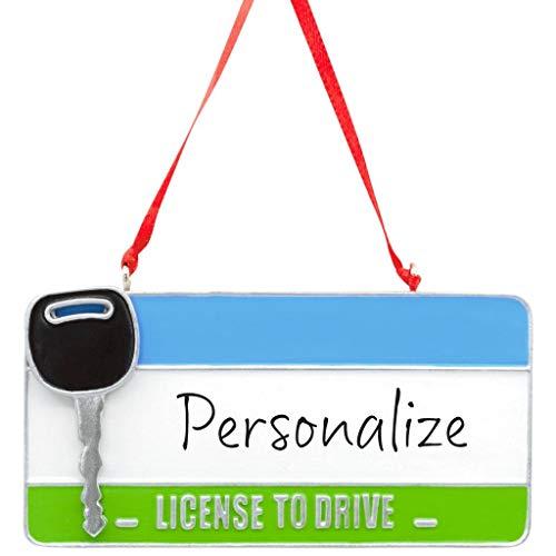 HMK Hallmark New Driver License Plate - DIY Personalization Ornament