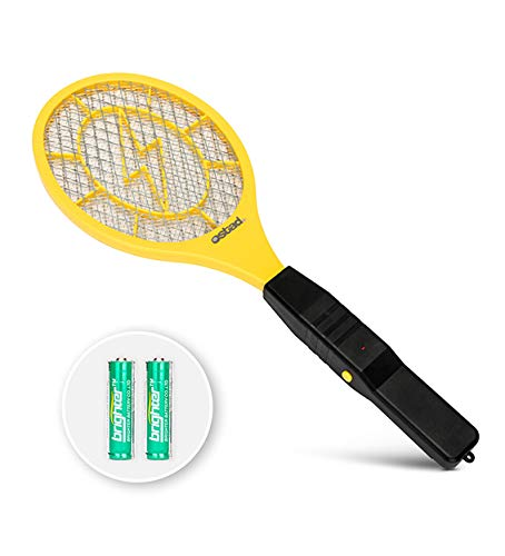 (3000 Volt Electric Fly Swatter Mini Bug Zapper Outdoor | Fly Killer Indoor Electric Safe to use on Bugs Inside or Outside | Made from Durable ABS Material)