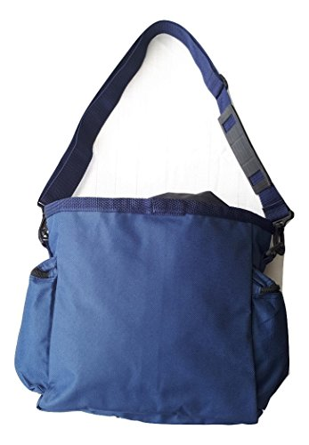 Bags Accessories Find (Blue Treasure Hunting Metal Detecting Finds Pouch/Bag. For Garrett, Minelab etc. Features Bottom with leak holes, Adjustable Belt Clips. 2 Pinpointer Holders, multiple compartments. Shoulder Carry)