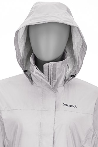 Marmot PreCip Women's Lightweight Waterproof Rain Jacket, Platinum, X-Small by Marmot (Image #5)