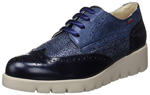 Callaghan 89813, Zapatos de Cordones Derby para Mujer Azul (Marino)