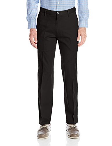 - Dockers Men's Straight Fit Signature Khaki Pant D2, Black (Stretch), 40W x 30L