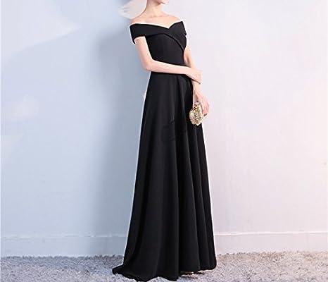 f787e7965 GHSSJH Toast Vestido de Novia Vestido Largo de la Boda Palabra Sexy  Banquete Banquete Delgado Vestido de Noche Falda. Cargando imágenes.