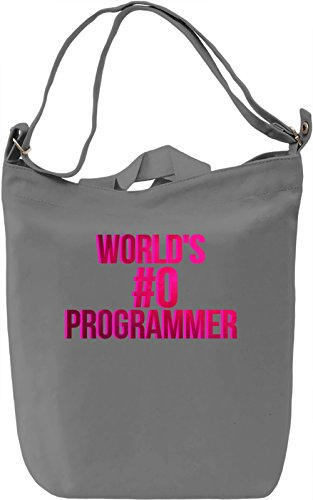 World's Programmer Borsa Giornaliera Canvas Canvas Day Bag| 100% Premium Cotton Canvas| DTG Printing|