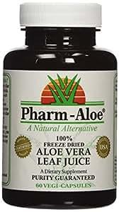 Pharm-Aloe® 100% Freeze Dried Aloe Vera Juice Capsules 60 vegi-caps