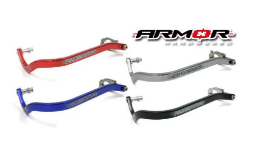Zeta Drop Down Bend Aluminum Handguards for 1 1//8 Handlebars Titanium Color