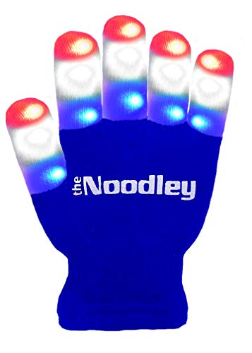 The Noodley Flashing LED Finger Light Gloves with Extra Batteries - Kids and Teen Sized Ages 4-7 (Sm - http://coolthings.us