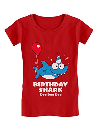 Birthday Shark Doo doo Song Funny Gift Toddler/Kids Girls' Fitted T-Shirt