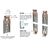 CRL Nickel Plated Adjustable Mirraco Mirror Clip Set for 3/8 Seamed Mirror by CR Laurence by CRL