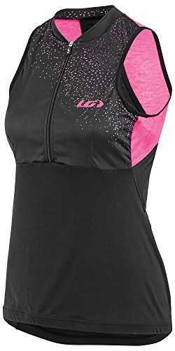 Louis Garneau Women's Zircon Sleeveless Cycling Jersey, Geometry, Medium Louis Garneau Sleeveless Jersey