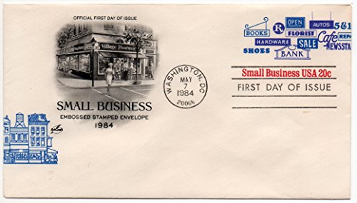 Small Business Embossed Stamped Envelope Issue 20 Cents Scott #U606 (Fdc Envelope)