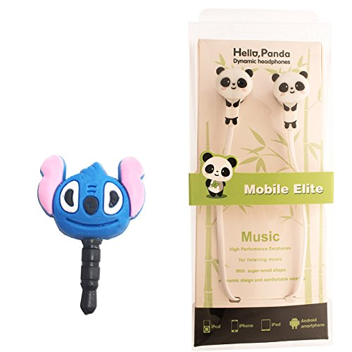 DIYJewelryDepot Cute Panda Bear Earphones Mobile Phone In-Ear Headset by DIYJewelryDepot