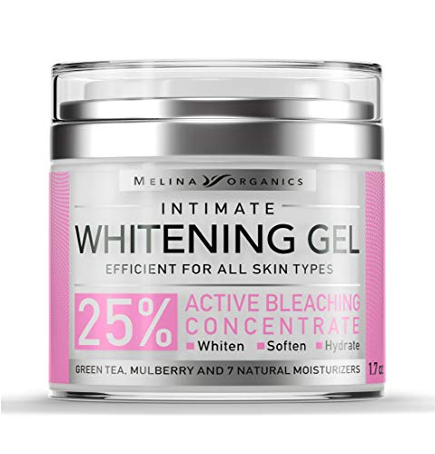 Skin Whitening Intim Gel - Natural Skin Care with Hyaluronic Acid, Lemon Essential Oil & Aloe Vera - Made in USA - Skin Bleaching Cream for Face & Intimate Areas & Armpits - Cream for Women - 1.7OZ (Ounce Lightening 1.7)