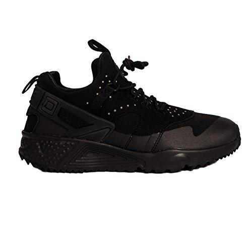 Nike Men Air Huarache Utility Running Shoes, Black, 9 UK Black - Black (Black/Black-black)
