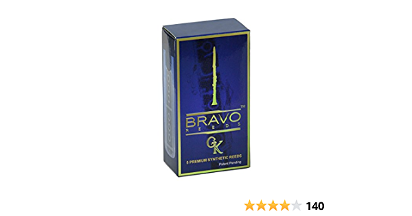 Bravo Synthetic Reeds for Bb Clarinet Model BR-C20 Box of 5 Strength 2.0