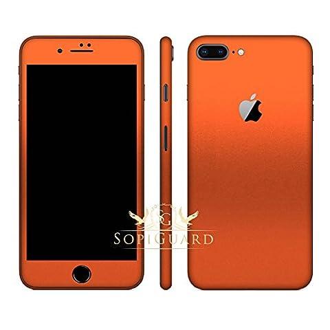 SopiGuard iPhone 8 Plus Carbon Fiber Full Body Precision Edge-to-Edge Coverage Easy-to-Apply Vinyl Skin Sticker (Matte Orange (Iphone 4s Privacy Screen 3m)