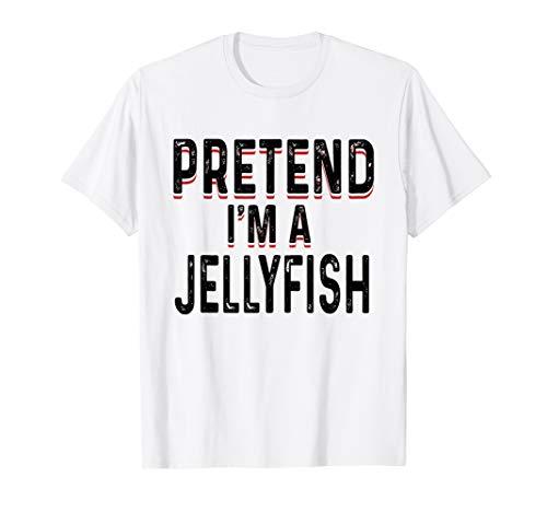 Lazy Jellyfish Shirt Funny Easy Halloween Costume Animal]()