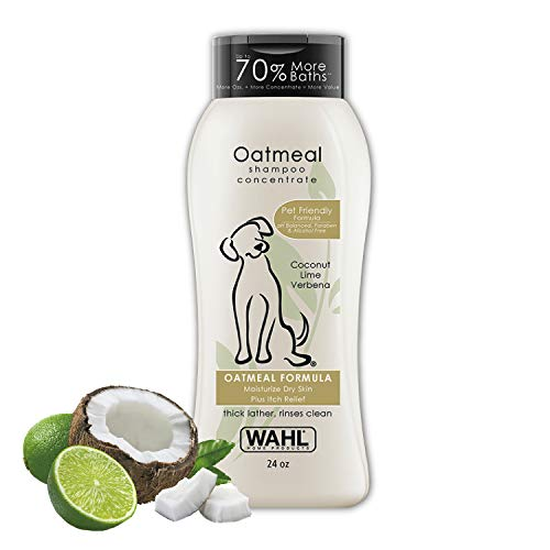 Wahl Dog/Pet Coconut & Lime Verbena Oatmeal Shampoo For All Life Stages - By The Brand Used By Professionals - Model 820004A (Bottle 18 Oz Shampoo)