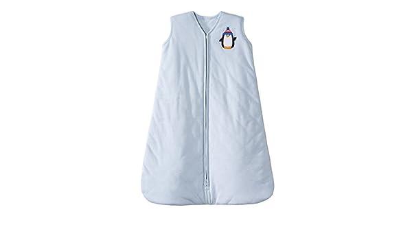 Halo Innovations Sleepsack dormir bebé invierno peso algodón manta (12 A 18 meses, grande, azul con decoración pingüino): Amazon.es: Bebé