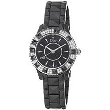 Christian Dior Women's CD1231E1C001 Black Eight Analog Display Swiss Quartz Black Watch