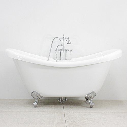 Acrylic Slipper Clawfoot Bathtub - 6