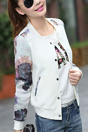 Full White Jacket Basketball Outwear Print Women Zip Size Cardigan Plus A5UzWP