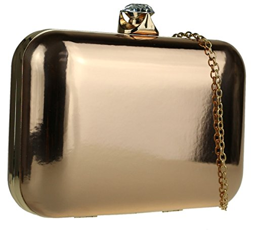 Girly Champagne Closure Clutch HandBags HandBags Bag Glossy Girly Glossy Closure z05xgqY