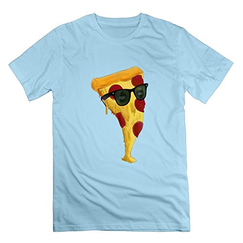 Glasses Of Pizza Crewneck T-Shirt Short-Sleeve Cotton For Mens Crew - 3d Limited Avengers Edition Glasses
