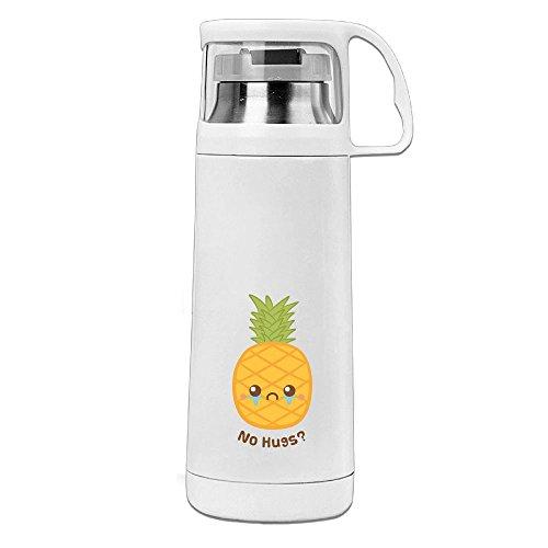 Handled Hug (Karen Garden Cute Pineapple Fruit Has No Hugs Stainless Steel Vacuum Insulated Water Bottle Leak Proof Handled Mug White,12oz)