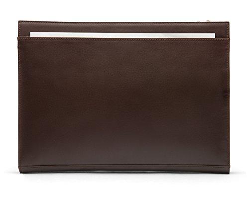 SAGEBROWN Brown Zip Top Leather Folder by Sage Brown (Image #2)
