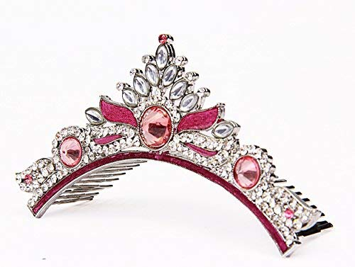 storeindya Tiara Crown Fashion gifts, Costume Jewelry Imitation Head Gear For Girls Prom Queen Bridal Pageant Birthday Princess Headband Comb Pin Rhinestone Faux Crystal (Gold Pink White) -