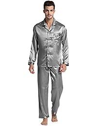 a6b59c2f540e Tony   Candice Men s Classic Satin Pajama Set Sleepwear