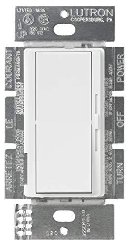 3wy Slide Dimmer - Lutron DV-603PH-WH Diva 3-Way Preset Slide Dimmer, 120-Volt, 600-Watt, White