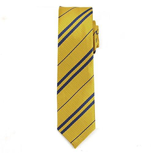 [Shindek School Costume Dress Shirt Slim Tie Striped (yellow)] (Simple Halloween Costumes For High School)