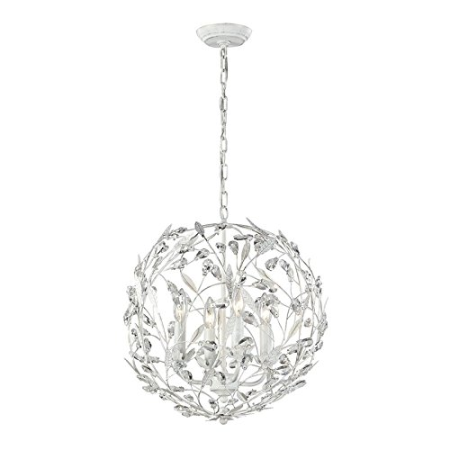 Elk Lighting 18124/4 Circeo Collection 4 Light Pendant, Antique White