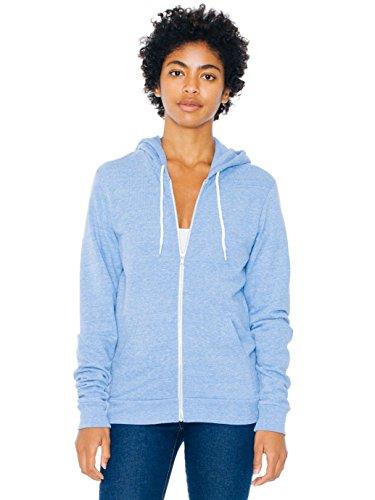 American Apparel Men Tri-Blend Zip Hoodie Size L (American Apparel Flex Fleece Hoodie)